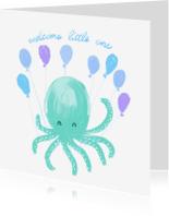 Felicitatiekaarten - Felicitatiekaart welcome little one jongen