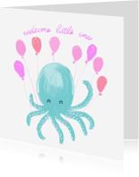 Felicitatiekaarten - Felicitatiekaart welcome little one meisje