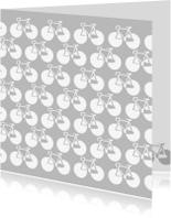 Wenskaarten divers - Fietsen grijs
