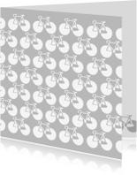 Succes kaarten - Fietsen grijs