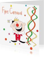 Carnavalskaarten - Fijne Carnaval clown