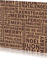Kerstkaarten - Fijne kerst in allerlei talen