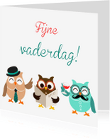 Vaderdag kaarten - Fijne vaderdag Uiltjes