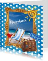 Vakantiekaarten - Fijne vakantie mixed media