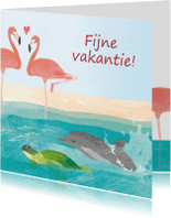 Vakantiekaarten - Fijne vakantie - tropisch eiland