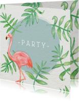 Uitnodigingen - Flamingo Party - KO
