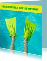 Geslaagd kaarten - flippers