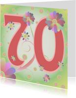 Verjaardagskaarten - flowerpower-70jaar