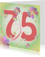 Verjaardagskaarten - flowerpower-75jaar
