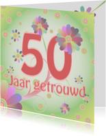 Jubileumkaarten - flowerpower-trouwen50
