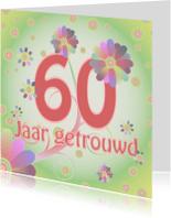 Jubileumkaarten - flowerpower-trouwen60