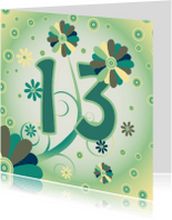 Verjaardagskaarten - flowerpower2 13 jaar