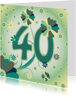Verjaardagskaarten - flowerpower2 40 jaar