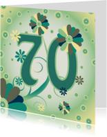 Verjaardagskaarten - flowerpower2 70 jaar