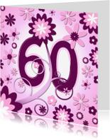 Verjaardagskaarten - flowerpower3 - 60 jaar