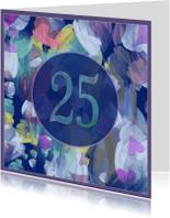 Jubileumkaarten - flowery 25