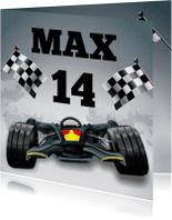 Verjaardagskaarten - Formule 1 raceauto leeftijd kaart