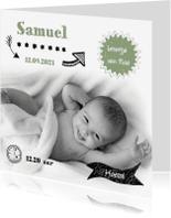 Geboortekaartjes - Foto geboortekaartje met tekening