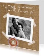 Verhuiskaarten - Foto karton en romantische regel