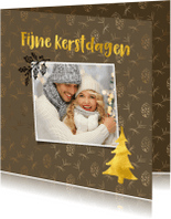 Kerstkaarten - Foto kerstkaart met een sfeervolle achtergrond