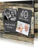 Jubileumkaarten - Fotocollage huwelijksjubileum 40 jaar getrouwd