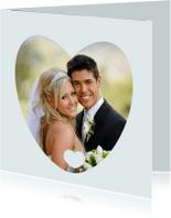 Liefde kaarten - fotokader hartje