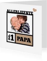Vaderdag kaarten - Fotolijst vader en kind-isf