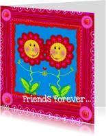 Vriendschap kaarten - Friends forever bloemen