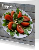 Uitnodigingen - Frisse tomatensalade
