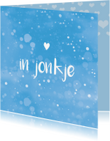 Fryske kaartsjes - Fryske felicitatie kaart geboorte jonkje