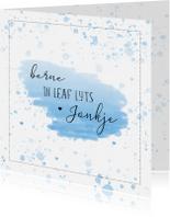 Fryske kaartsjes - Fryske felicitatiekaart - Berne in leaf lyts jonkje