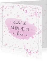 Fryske kaartsjes - Fryske kaart - omdat ik sa mâl mei dy bin
