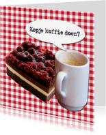 Uitnodigingen - Gebakje en koffie of thee