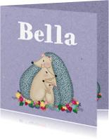 Geboortekaartjes - Geboorte Egeltjes Meisje - TJ