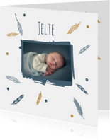 Geboortekaartjes - Geboorte foto Jelte - B