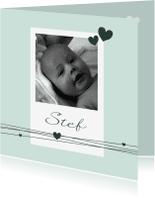 Geboortekaartjes - Geboorte - Foto, jongen, hart