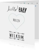Geboortekaartjes - Geboorte Hello Baby