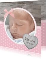 Geboortekaartjes - Geboorte Hout Lief Sterretjes