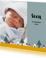 Geboortekaartjes - Geboorte jongen bos thema 2E