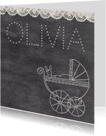Geboortekaartjes - Geboorte Kinderwagen - TbJ