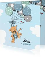 Geboortekaartjes - Geboorte leeuwtje ballonnen - IH