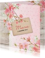 Geboortekaartjes - Geboorte lief mara - B