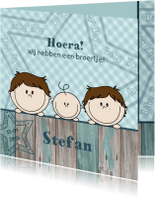 Geboortekaartjes - Geboorte lief stoer broertje