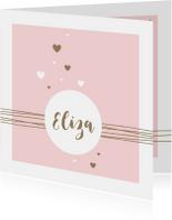 Geboortekaartjes - Geboorte - Lijnen, cirkel en harten