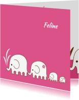 Geboortekaartjes - Geboorte Olifant-2e dochter-PF