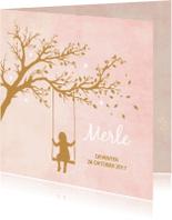 Geboortekaartjes - Geboorte silhouette merle - B