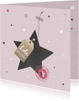 Geboortekaartjes - Geboorte Ster, label, meisje