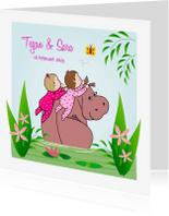 Geboortekaartjes - Geboorte tweeling nijlpaard