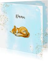 Geboortekaartjes - Geboorte vosje jongen