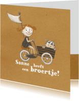 Geboortekaartjes - Geboortekaart - Broer Boris - MW